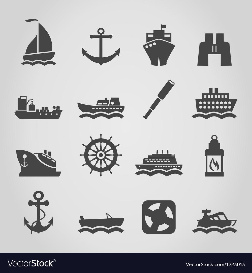 Ship an icon vector