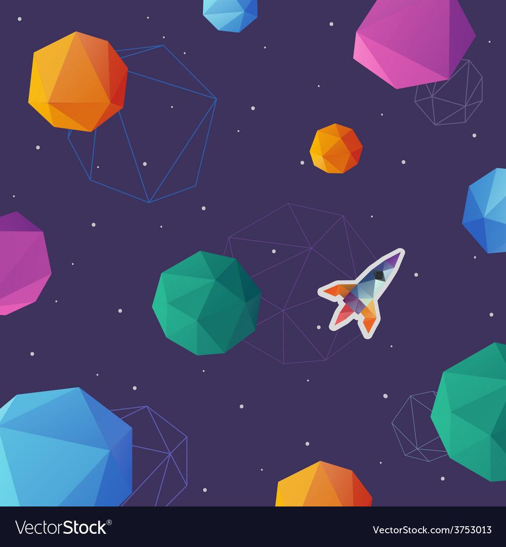 Space rocket brochure design vector