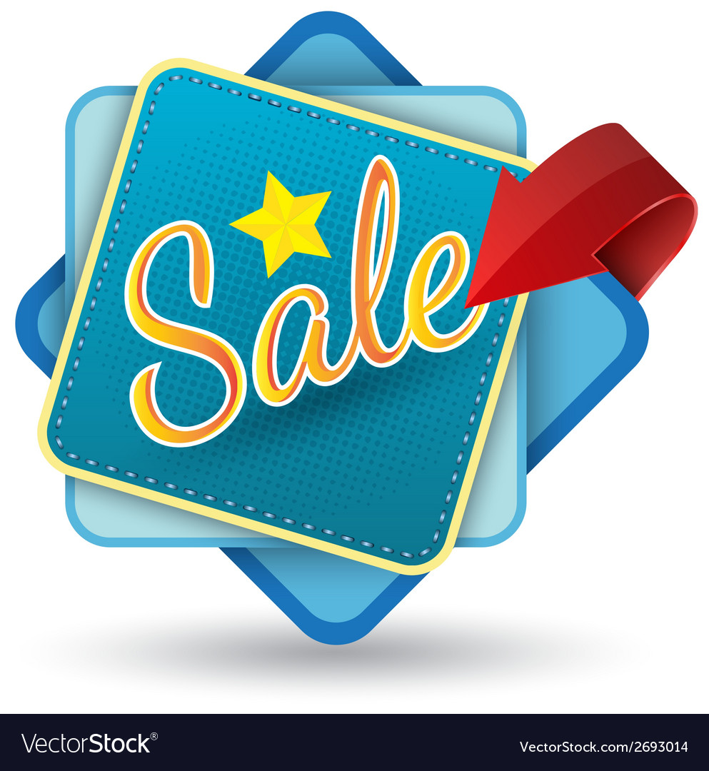 Sale tag banner vector