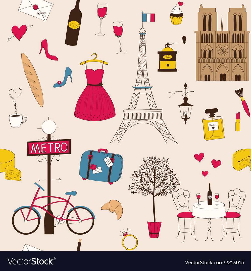 Paris pattern vector