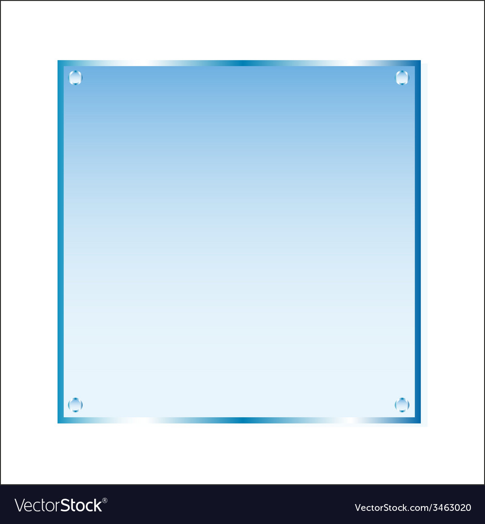 Sticker blue glass isolated object vector