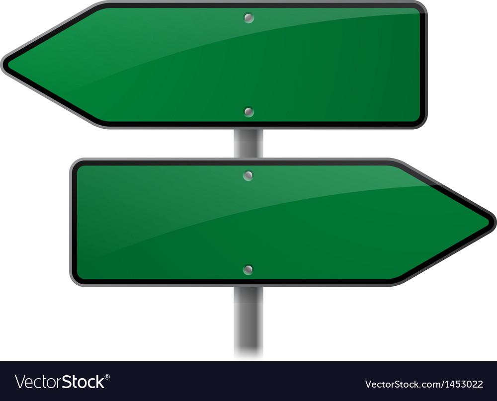 Arrow sign choice vector