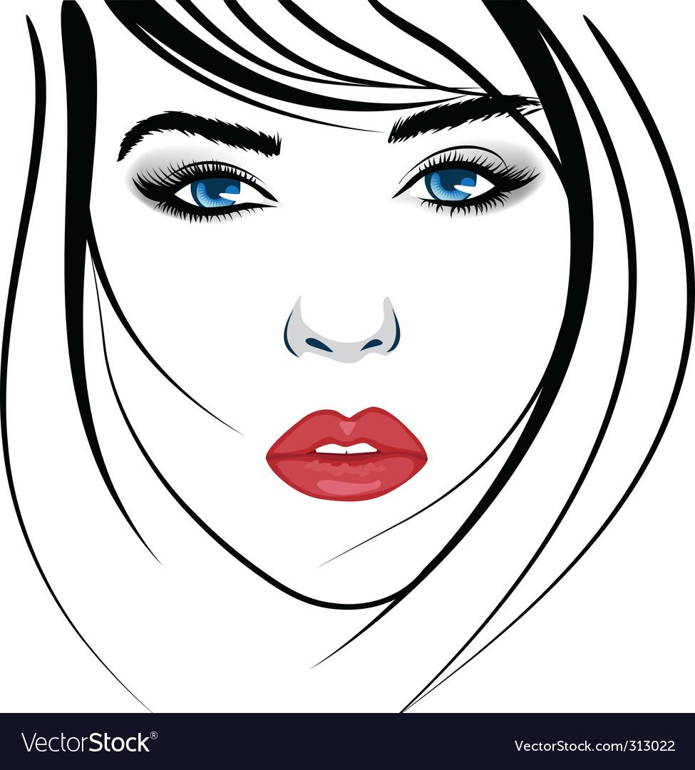 Beautiful face vector