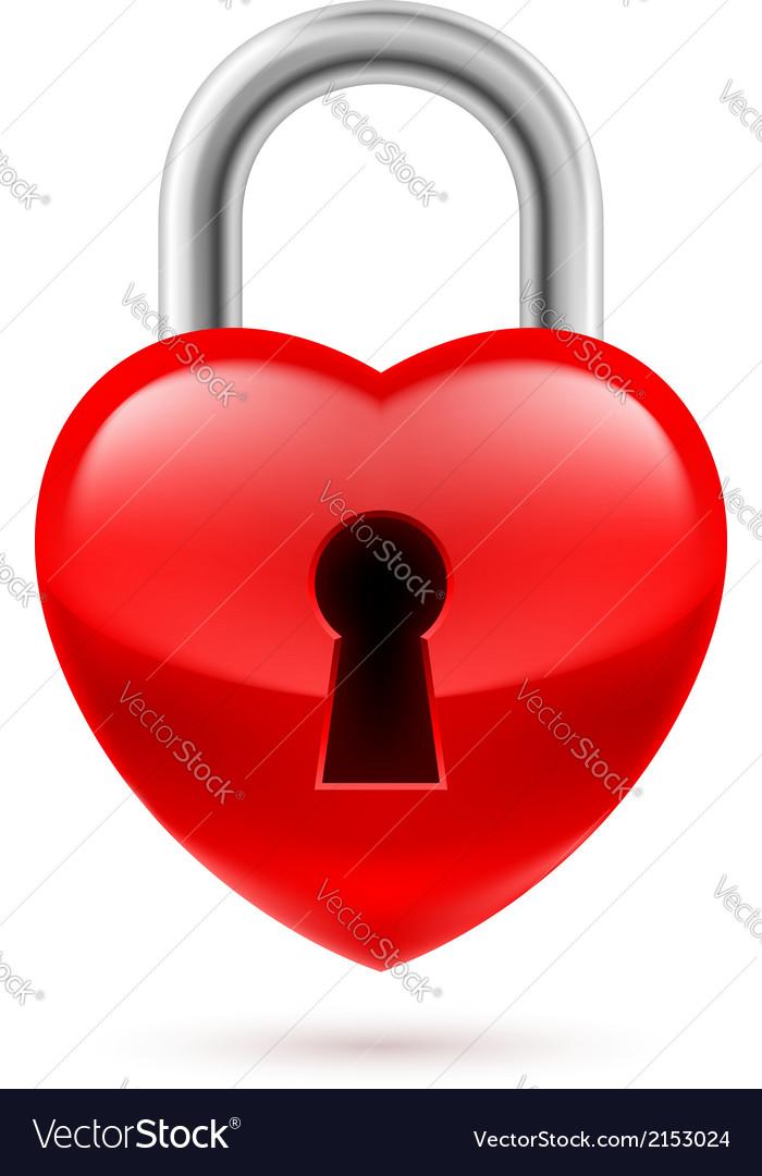 Padlock as heart vector