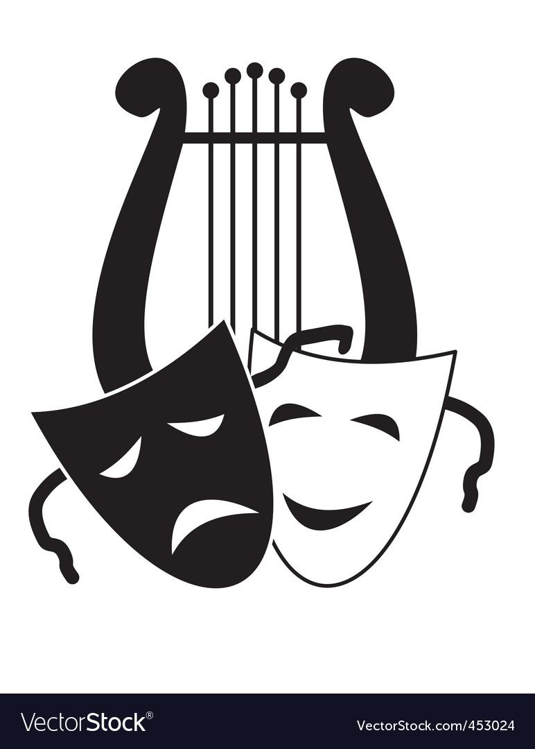 Theater symbols vector