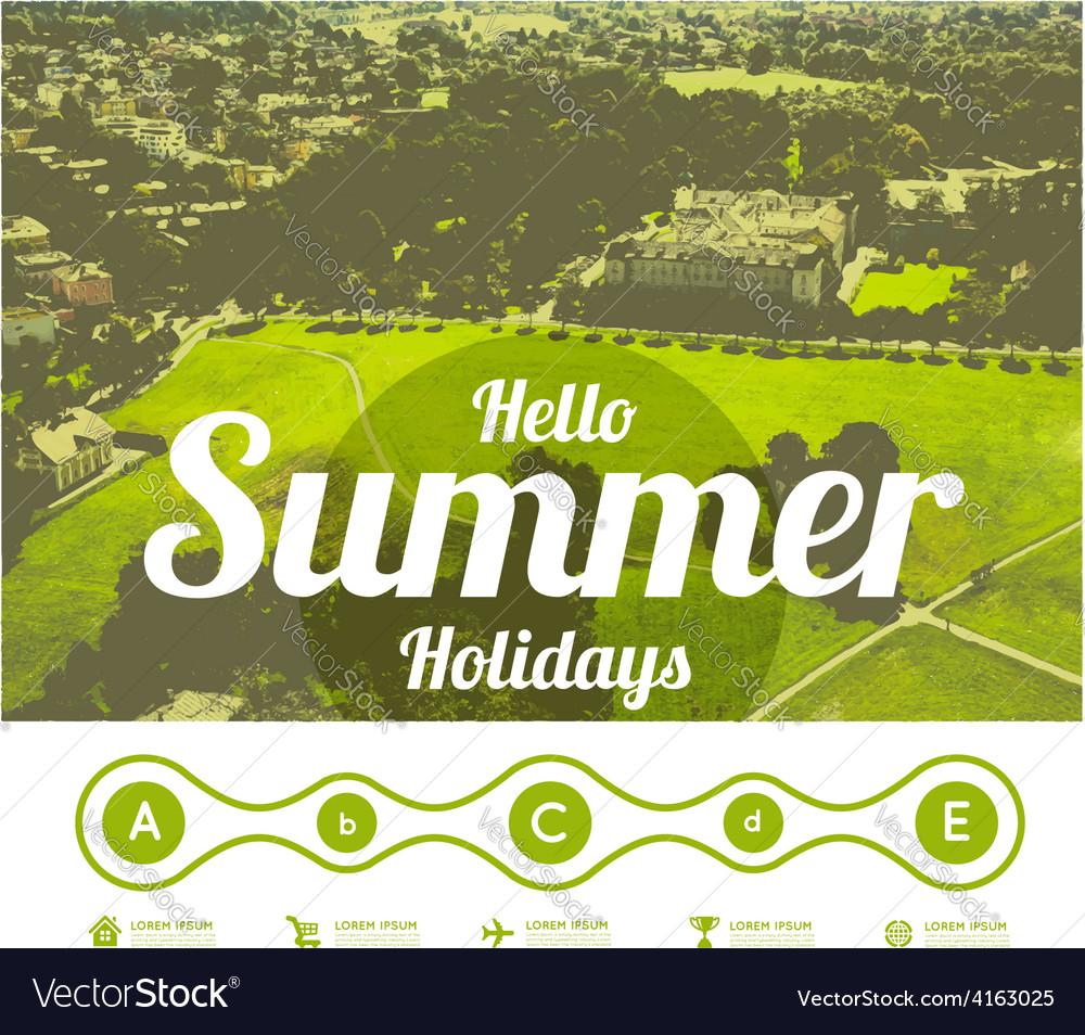 Hello summer holidays vector