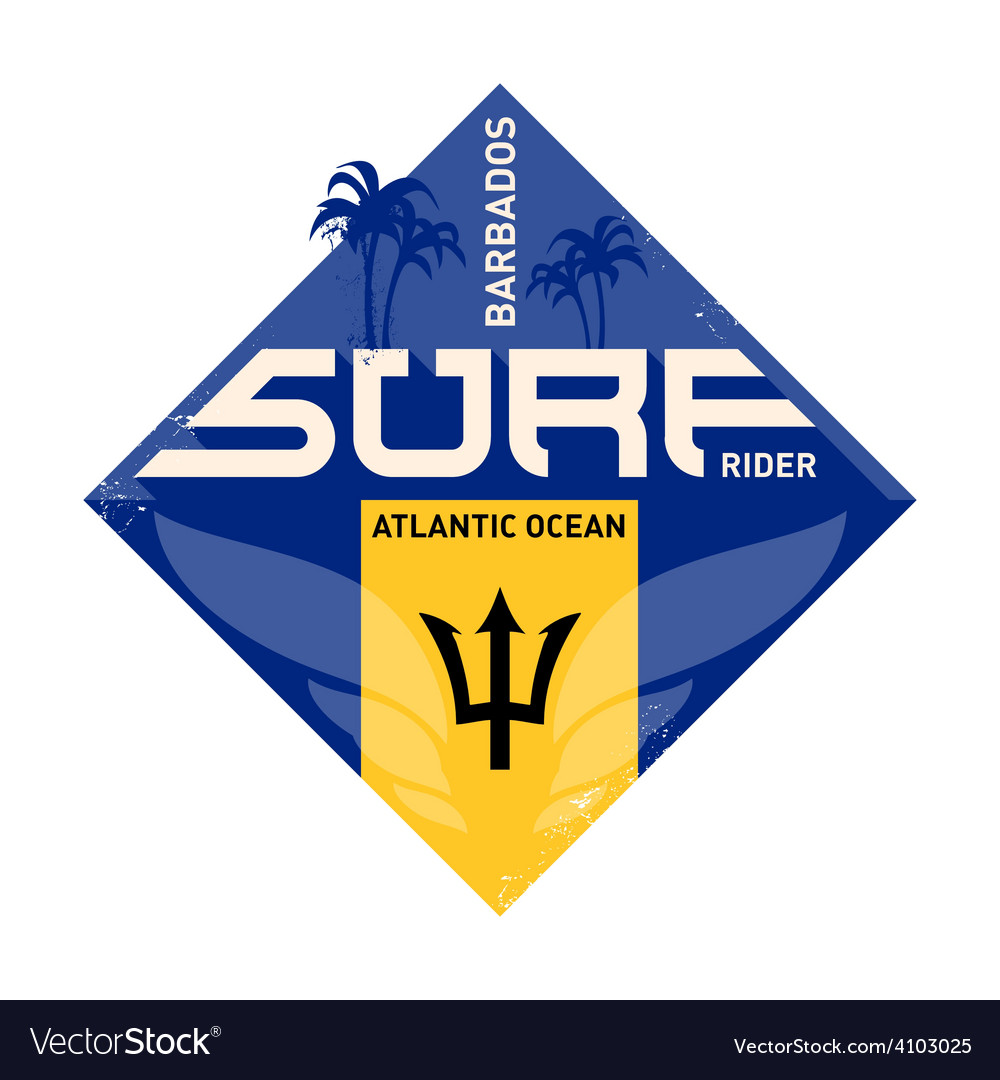 Inspirational print atlantic ocean surfers label vector