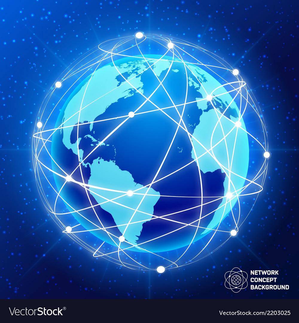 Network globe concept vector