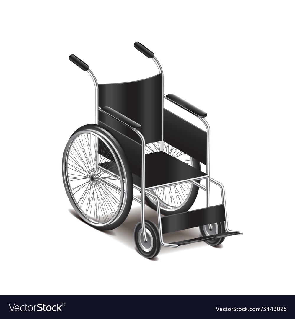 Wheelchair isolated vector