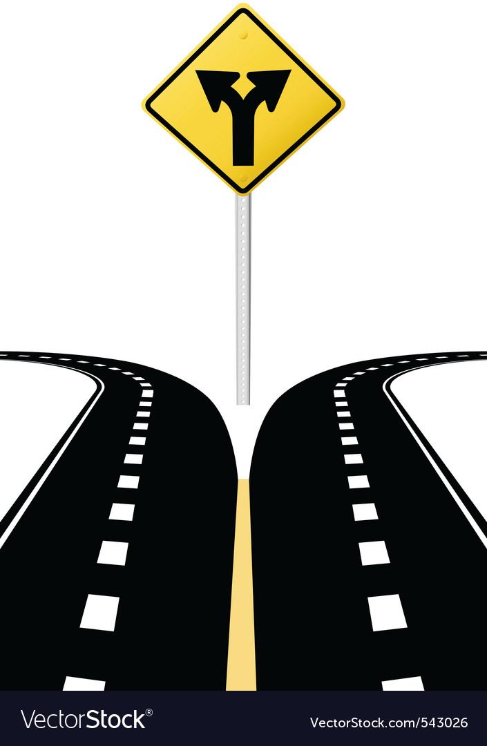 Highway road sign vector