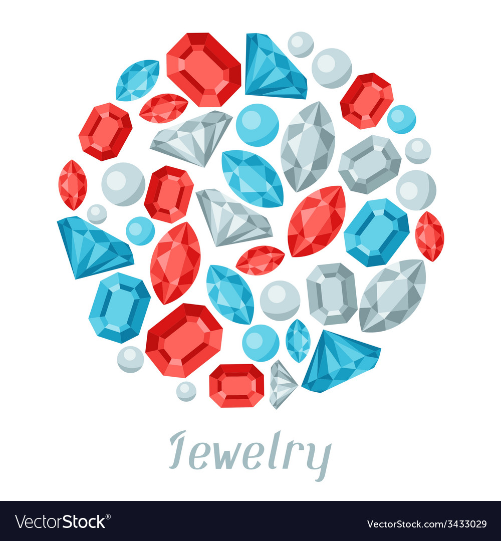 Background design with beautiful jewelry precious vector