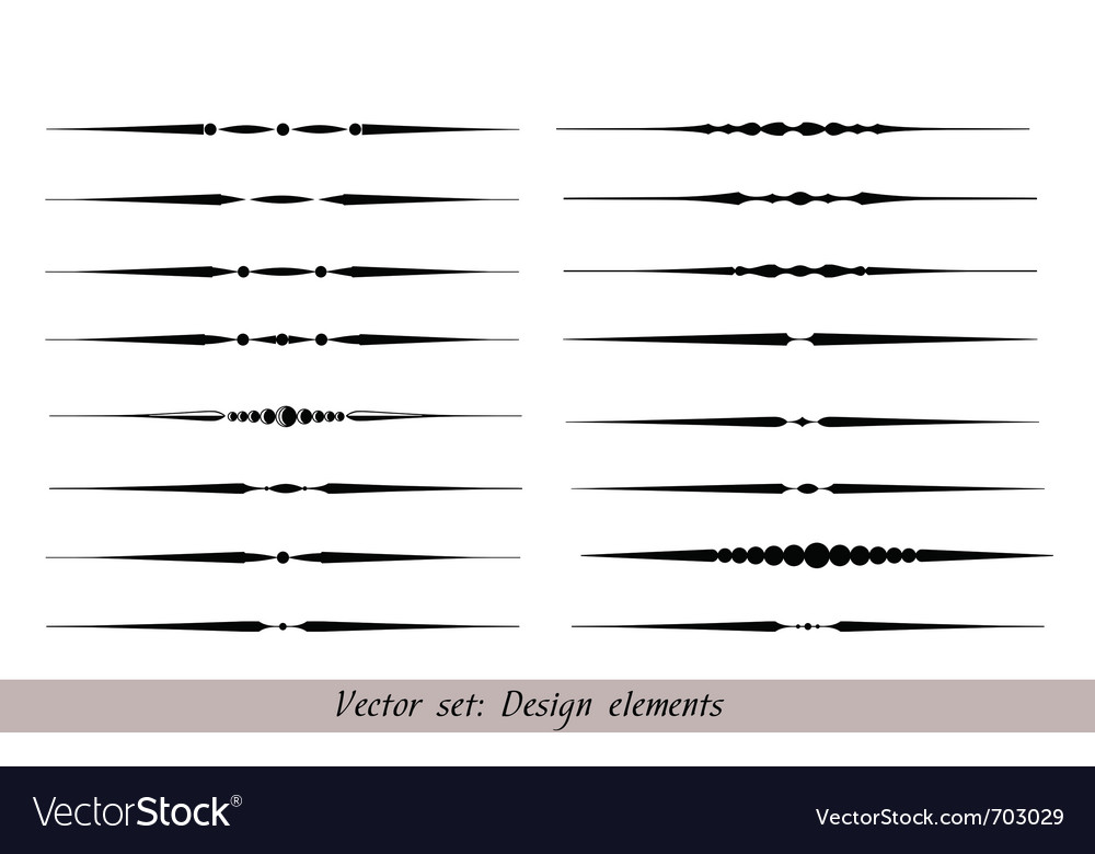 Text dividers set vector