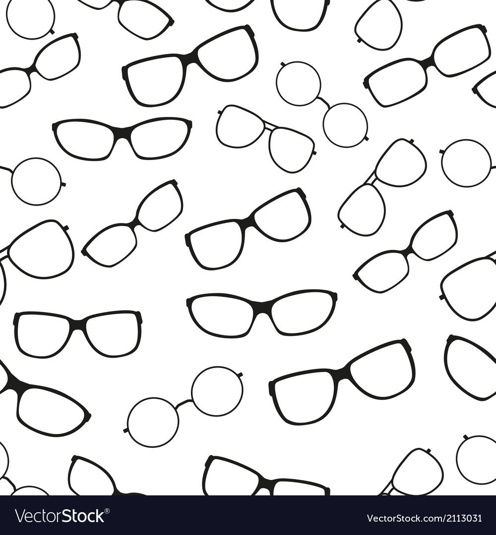 Seamless pattern with glasses vector