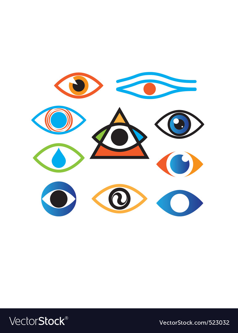 Eye color vector