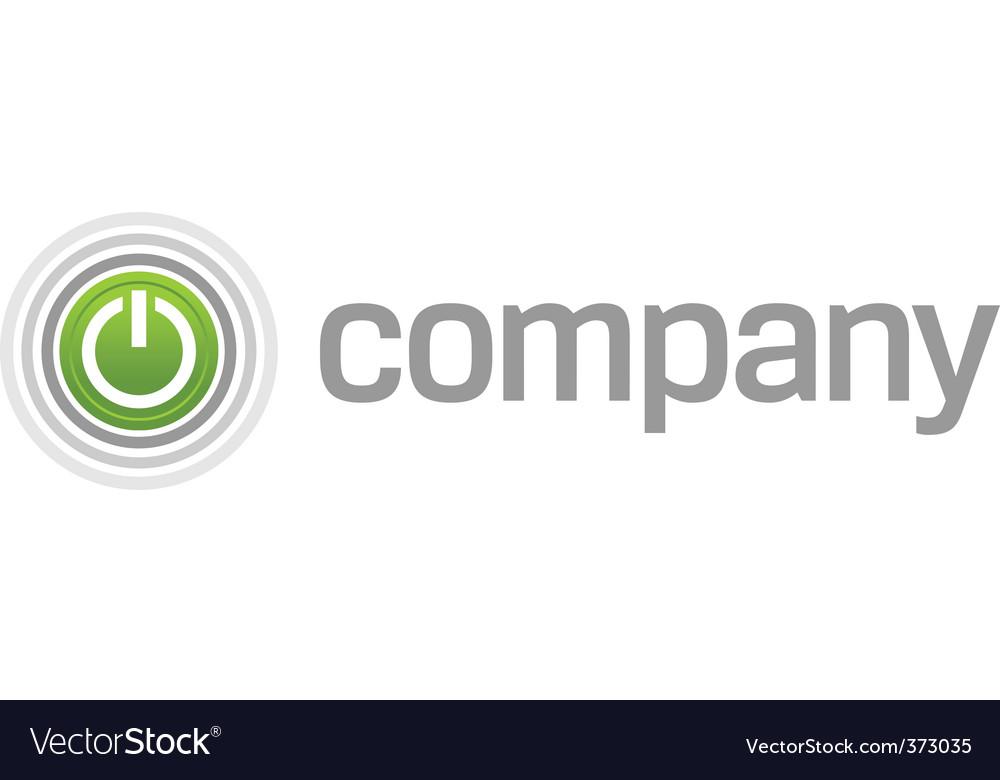 Power start button logo vector