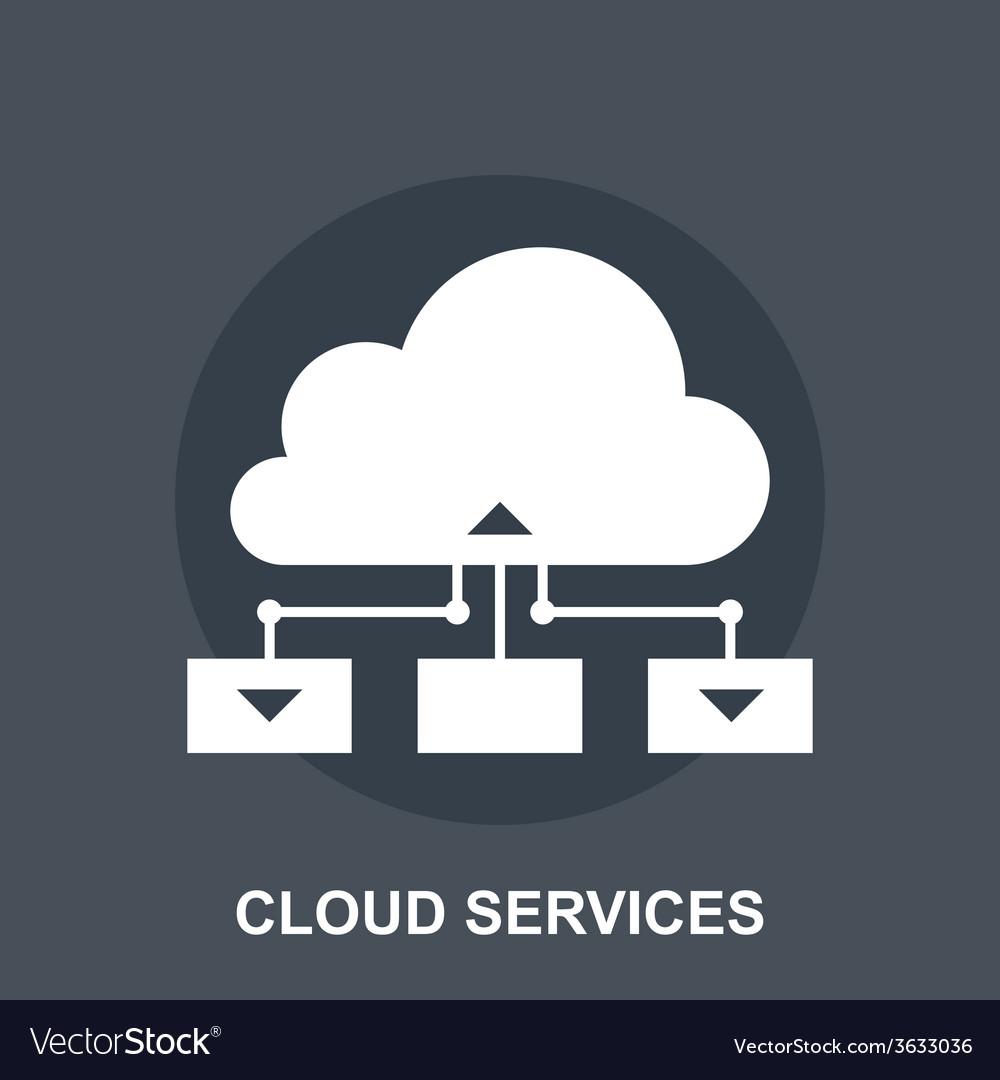 Cloud services vector