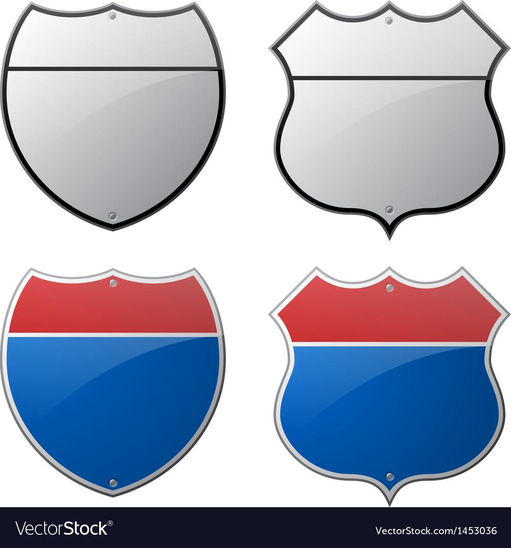 Highway signs vector