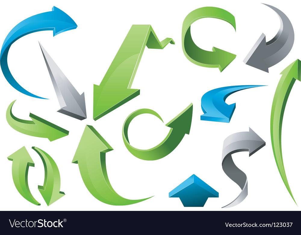3d arrow signs vector