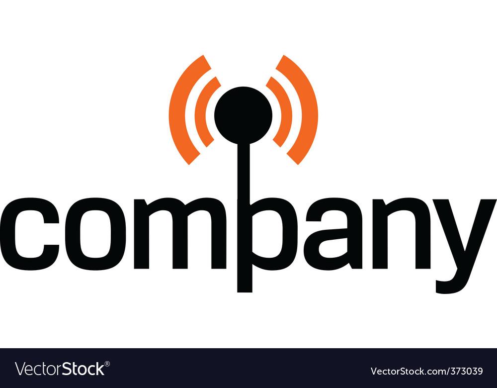 Wireless technology logo vector