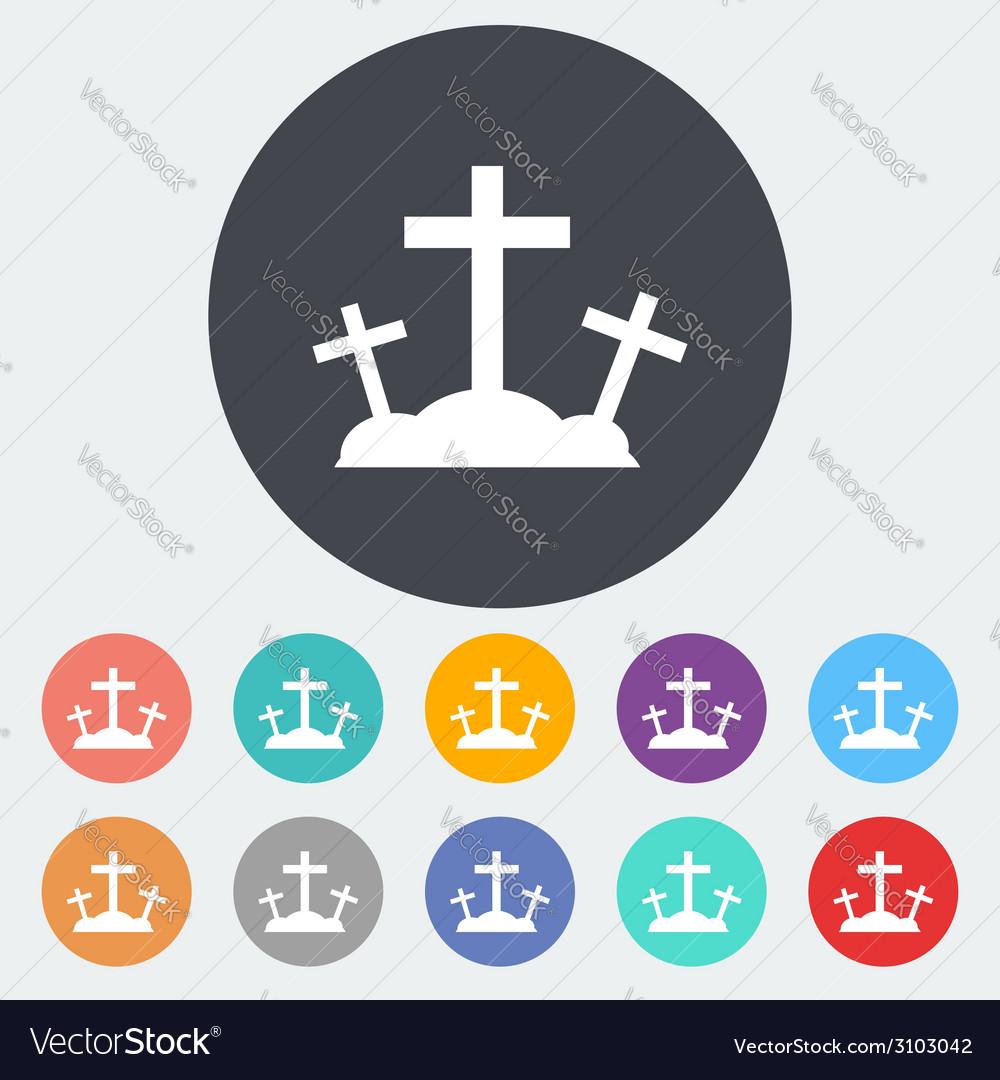 Calvary single icon vector