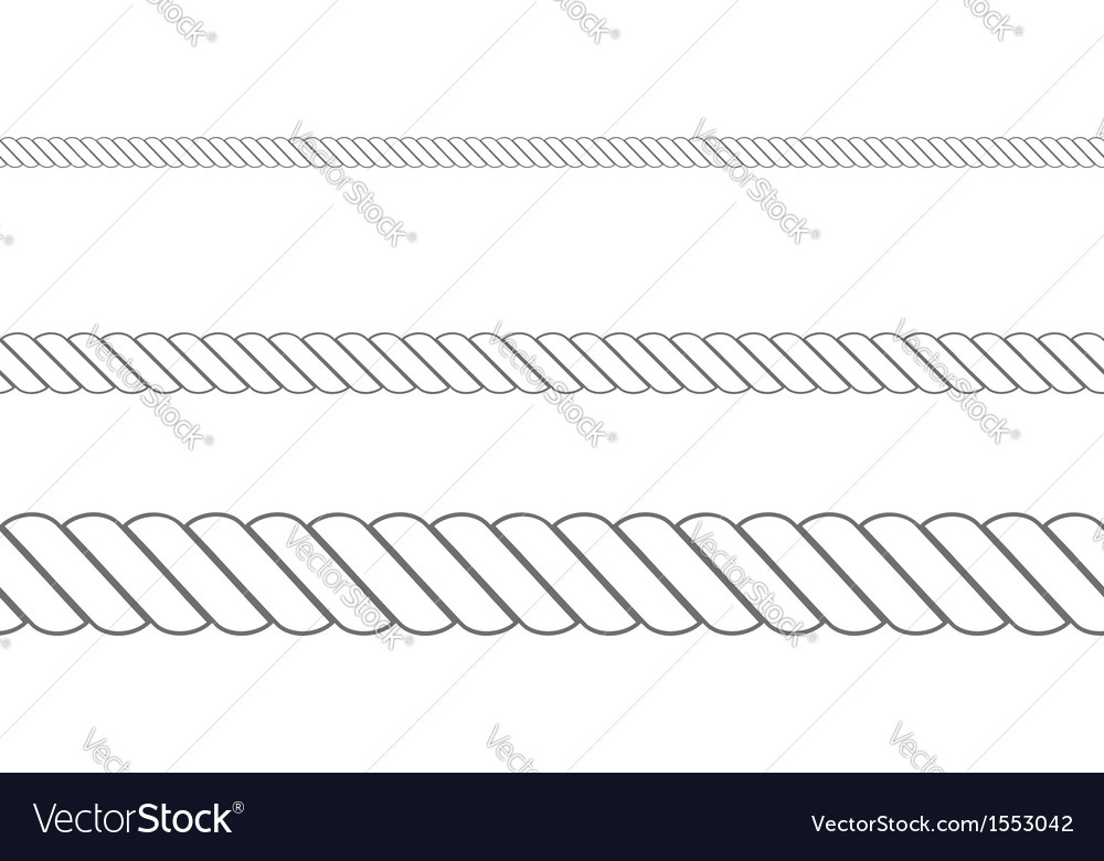Rope in three sizes2 vector