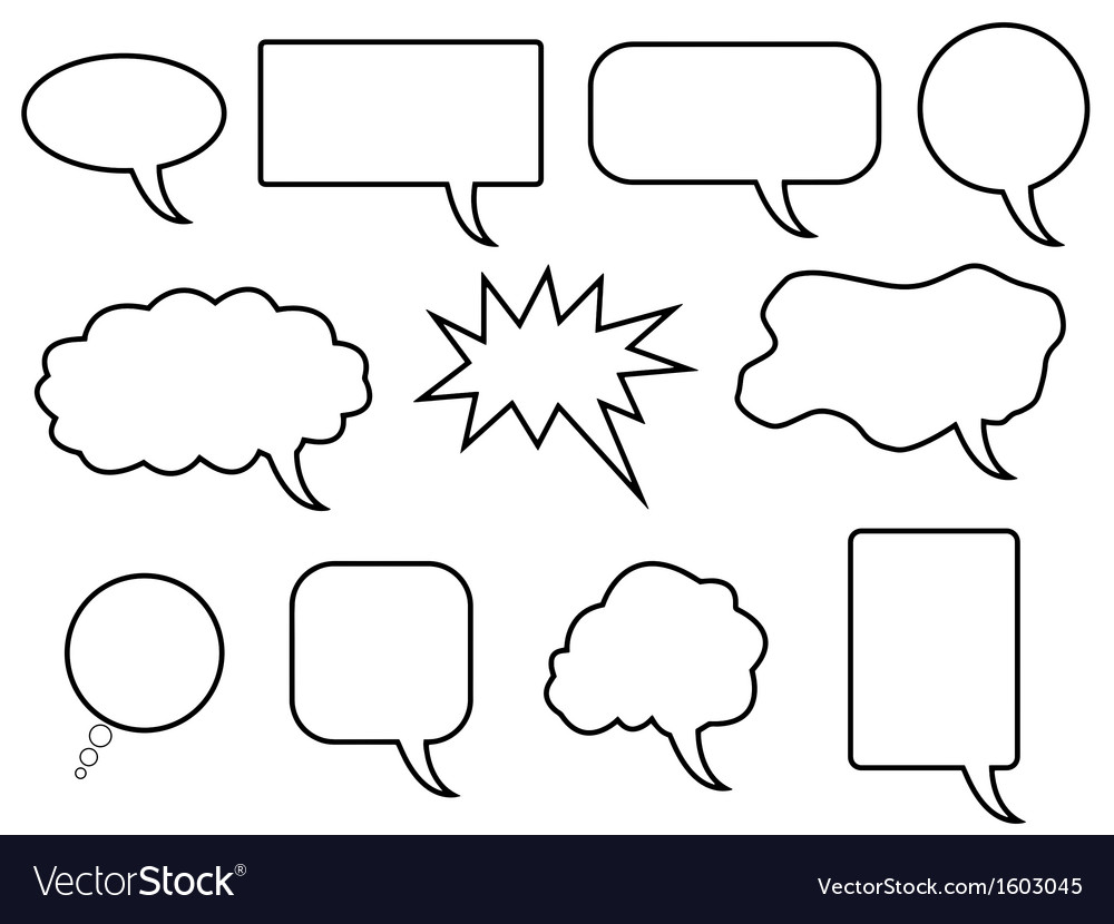 Speech bubles vector