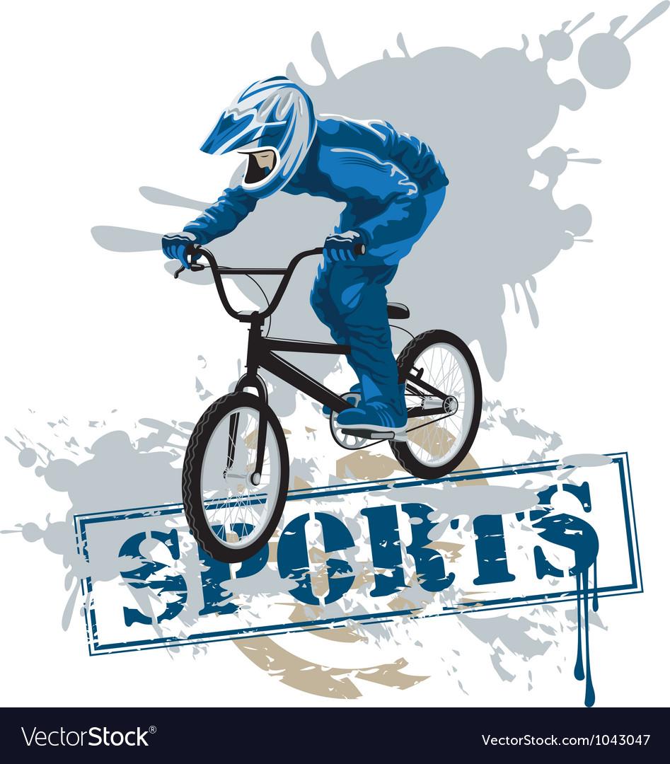 Cycle racing vector