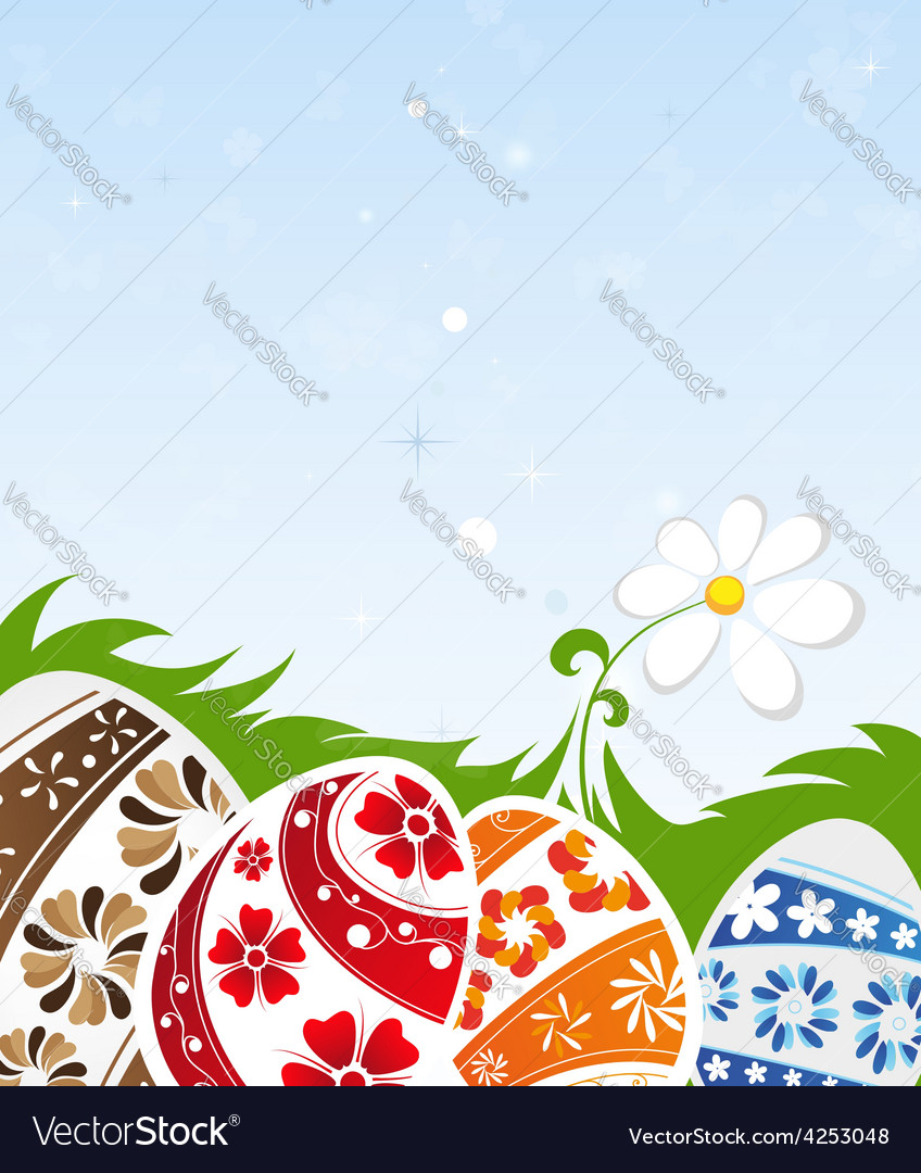 Easter morning vector