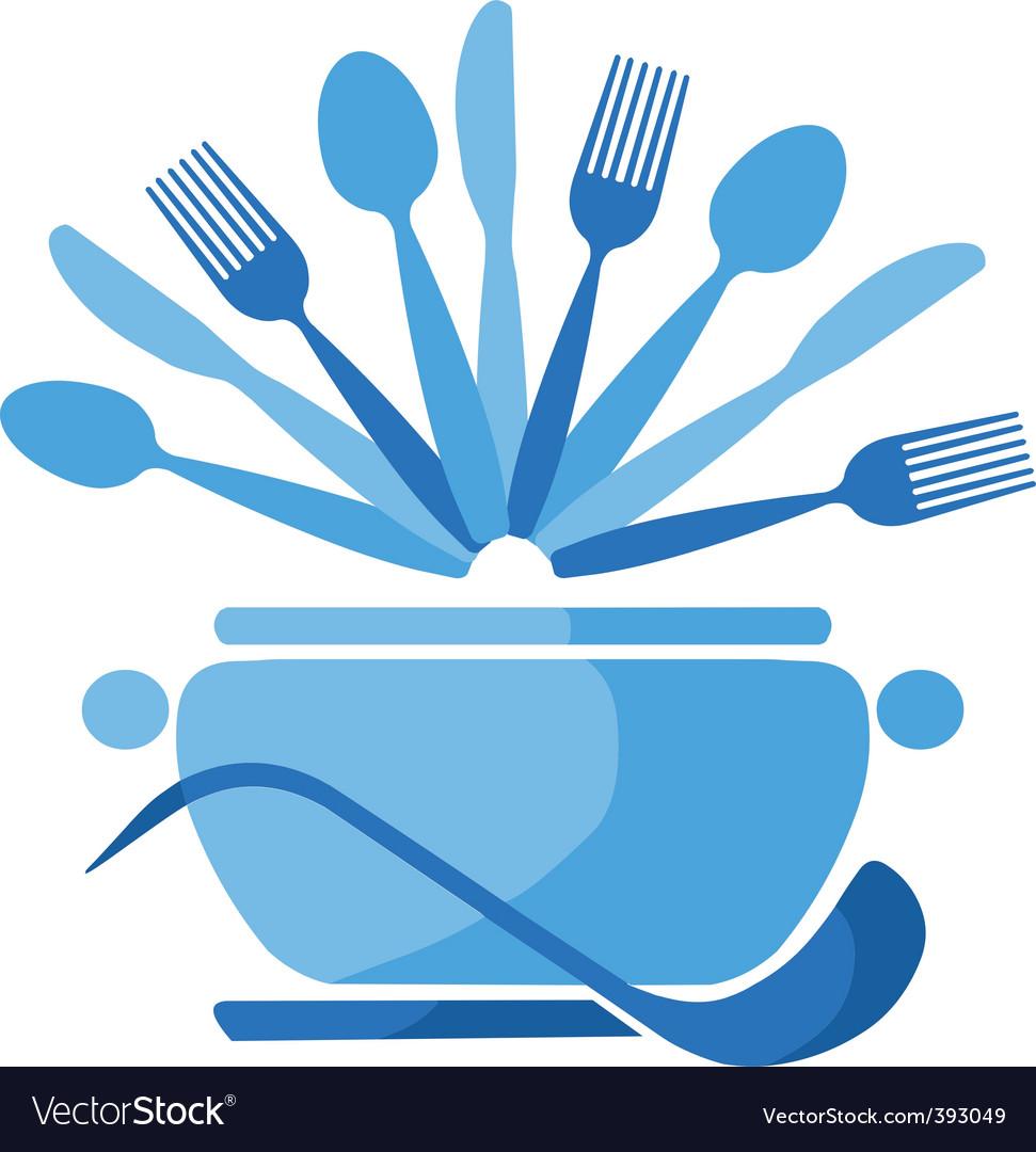 Dining illustration vector