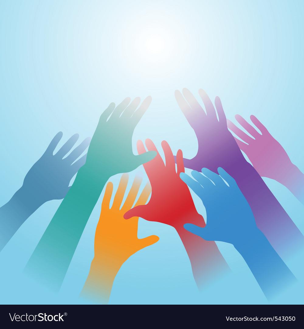 People hands vector