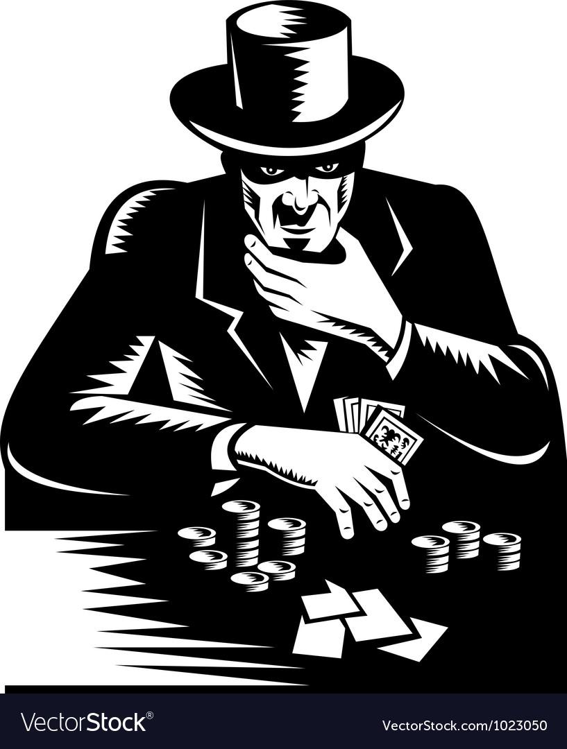 Poker player gambler vector