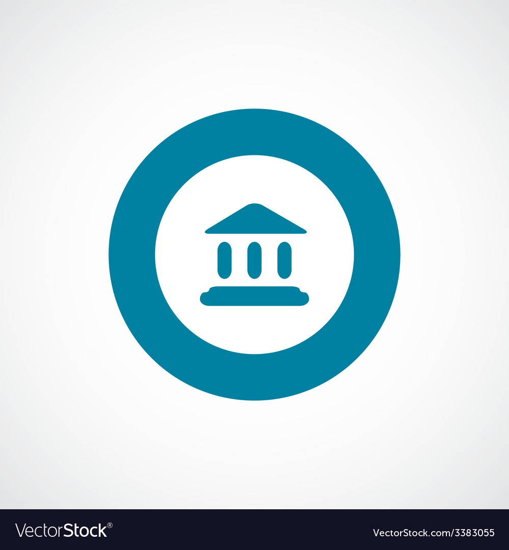 Court law bold blue border circle icon vector