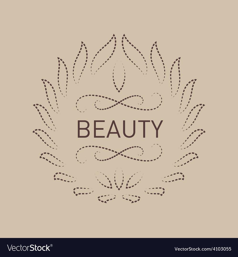 Floral logo template for beauty salon spa center vector