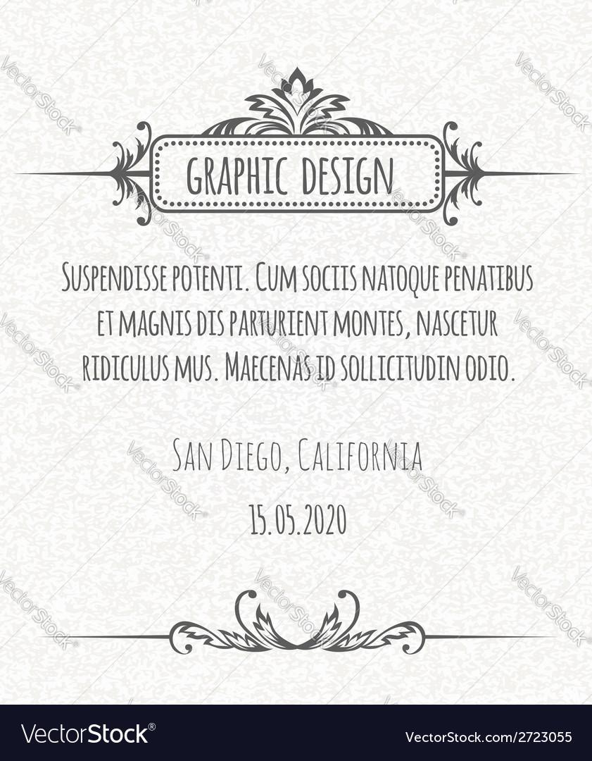 Page decoration calligraphic design elements vector