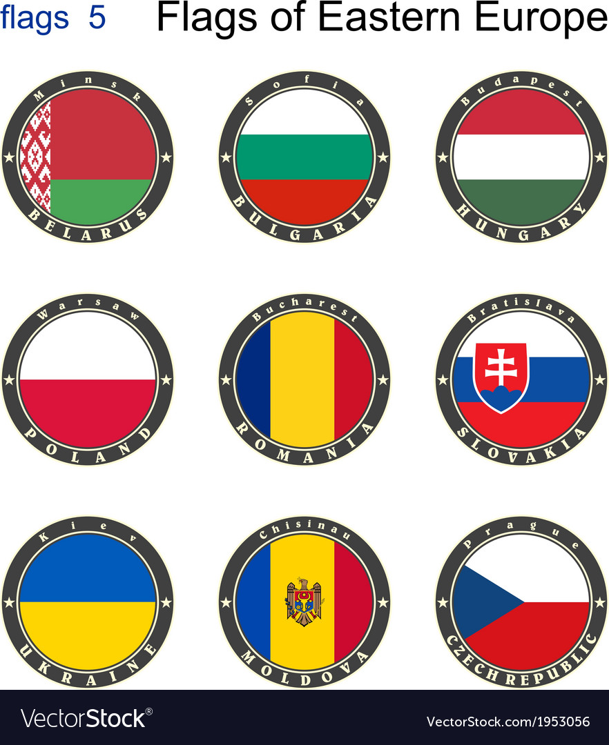 Flags of eastern europe vector