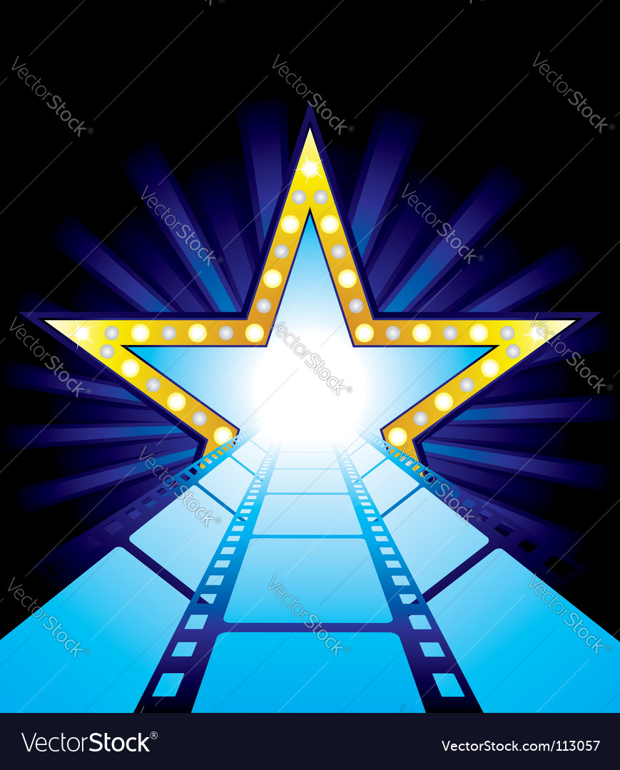Road to hollywood vector