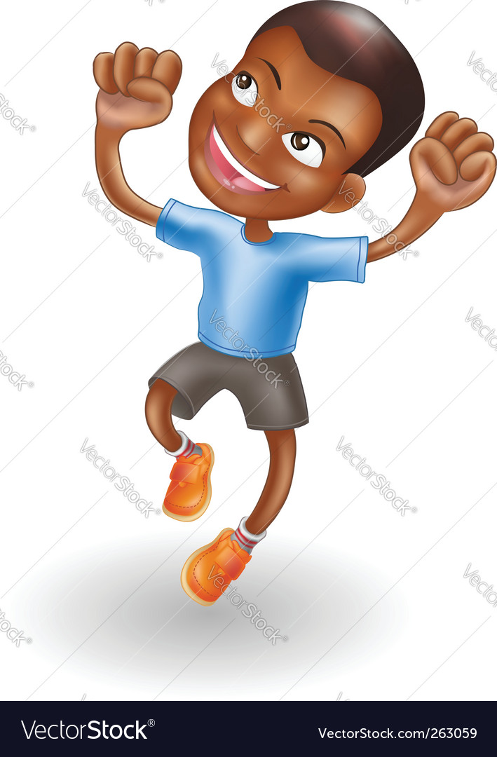 Jumping for joy vector