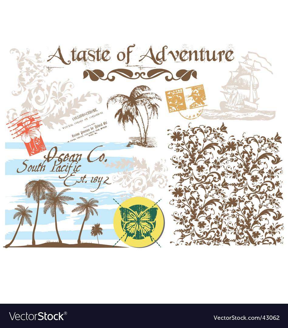 Adventure graphic vector