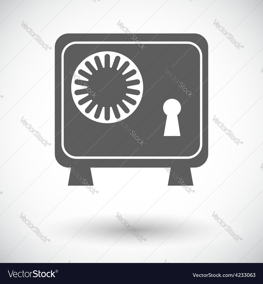 Bank safe icon vector