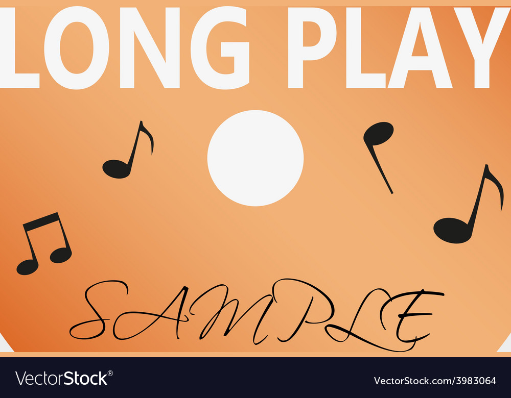 Long play lp audio music media symbol eps10 vector
