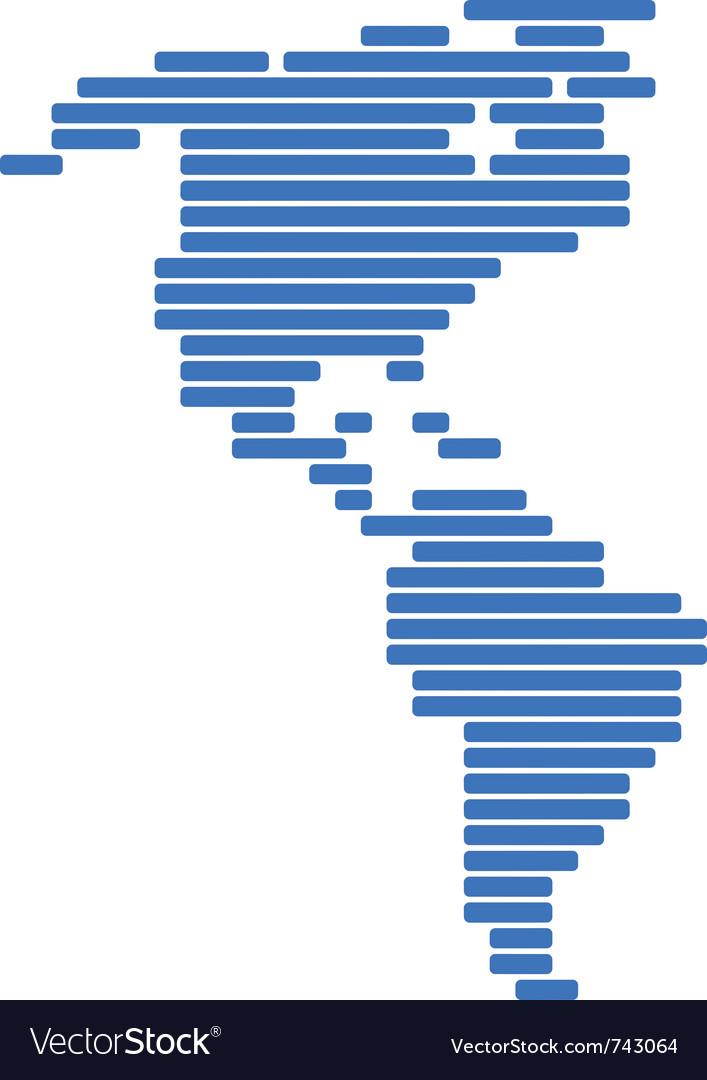 Map of america vector