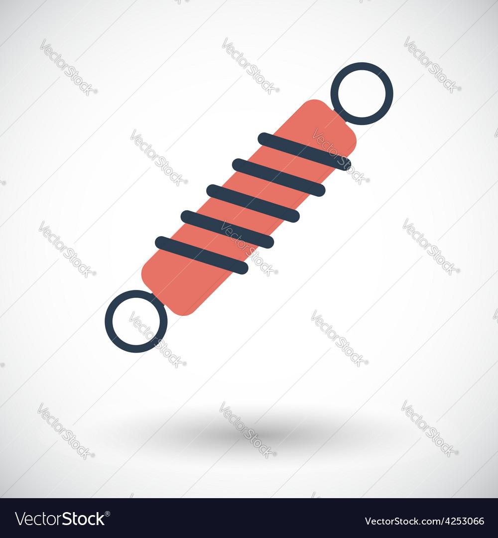 Automobile shock absorber single icon vector
