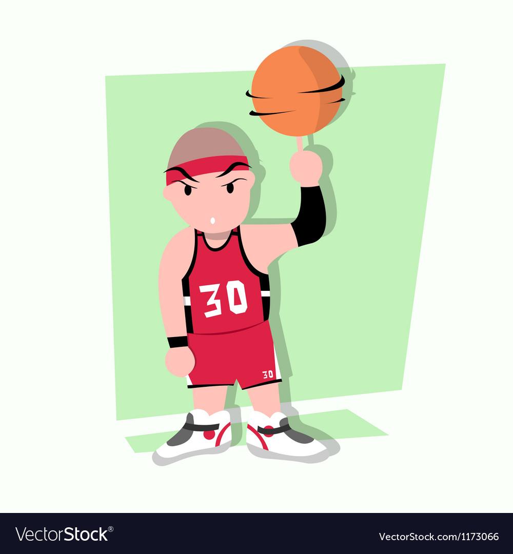 Funny little kids play basketball vector