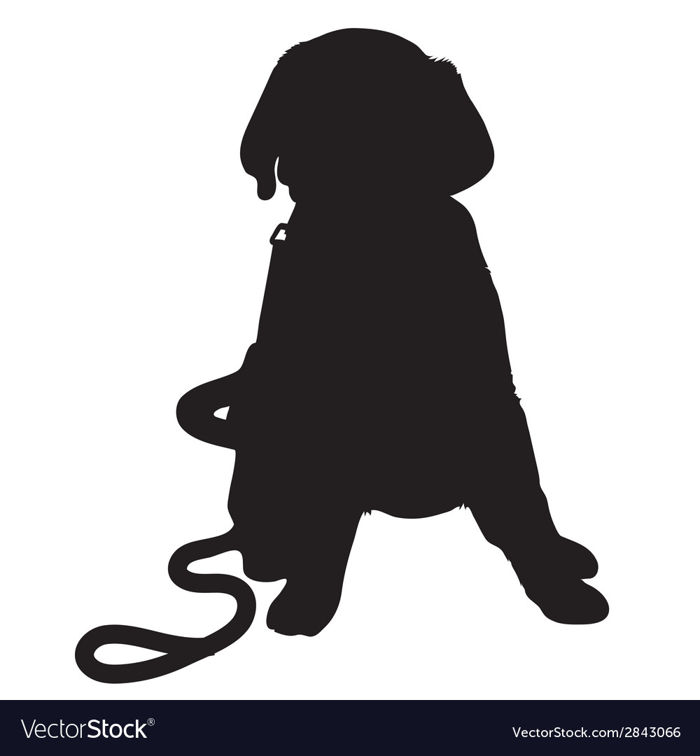 Labrador retriever puppy silhouette thm vector