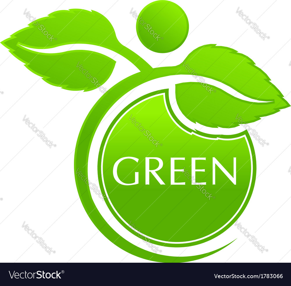 Plant seal logo vector