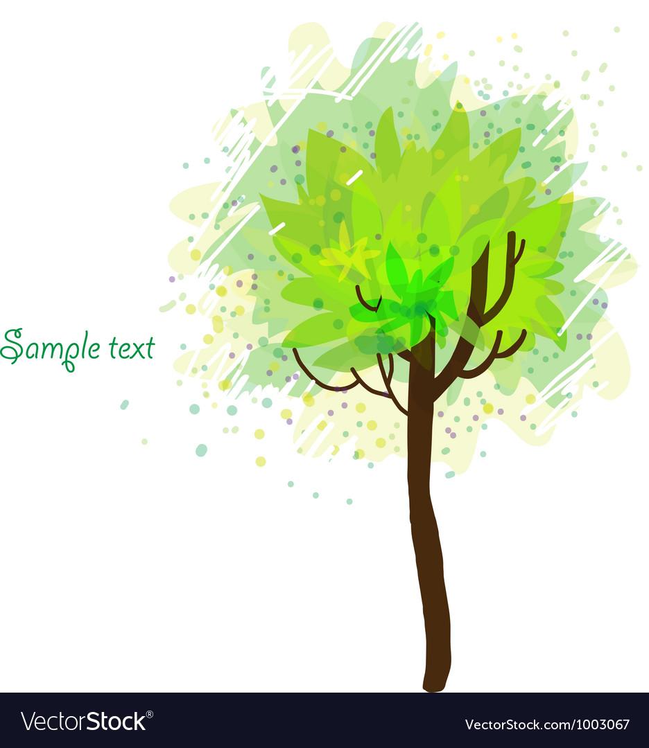 Autumn tree on white background vector