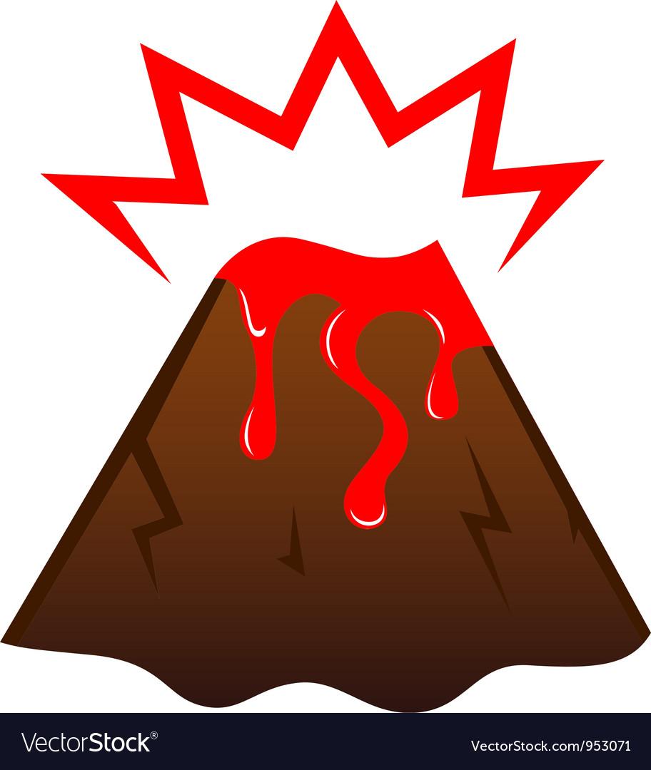 Erupting volcano vector