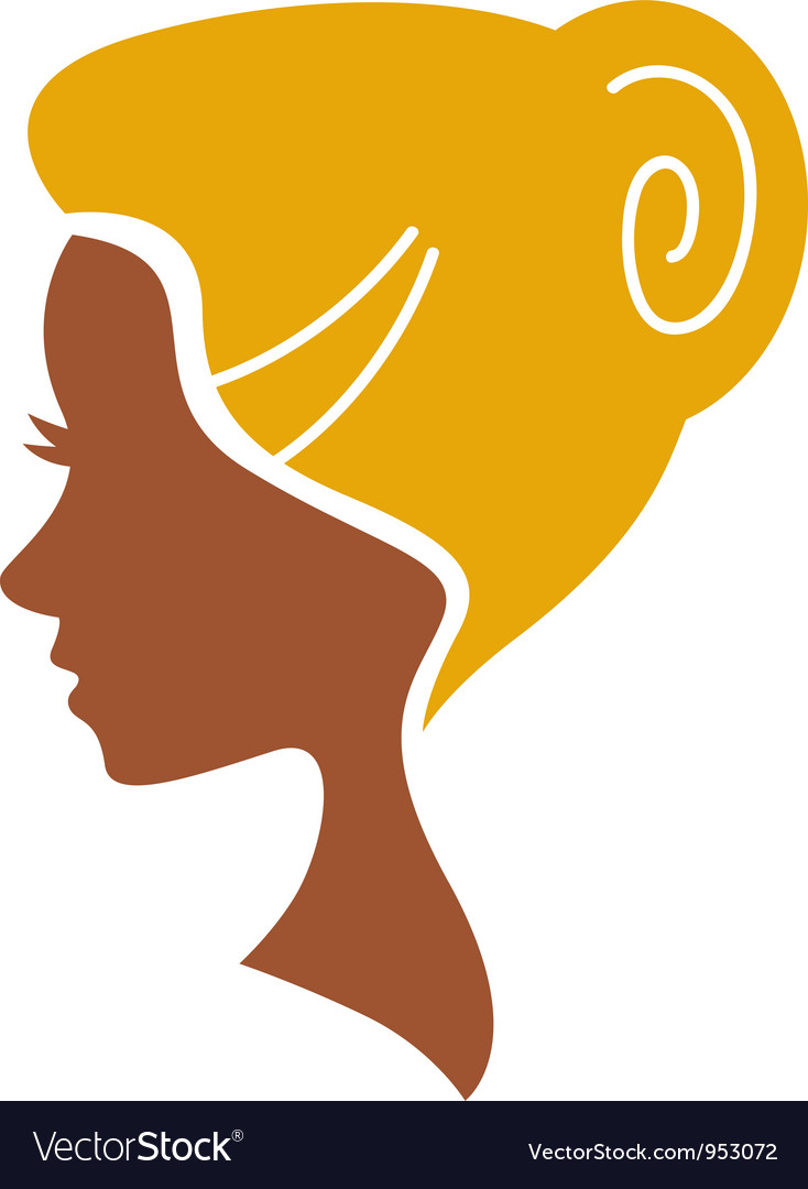 Cameo woman silhouette vector
