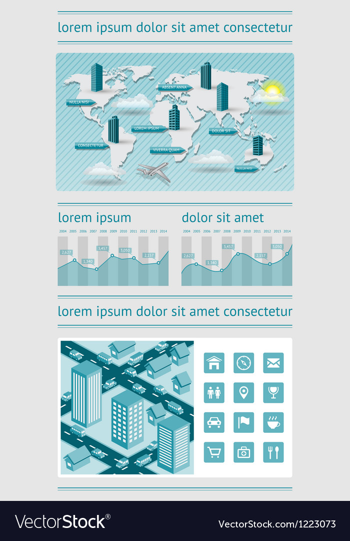Infographics and web elements vector