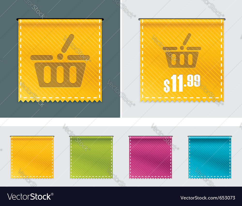 Price tag ribbon vector